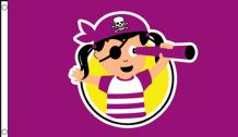 PIRATE CHILD GIRL - 5 X 3 FLAG
